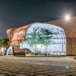 این موزه ملی هنر معاصر و مدرن در کره جنوبی، بدنه ی یک کشتی قدیمی است