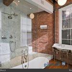 چند نمونه از دکوراسیون قسمتهای مختلف خانه با دیوارهای آجری +تصاویر