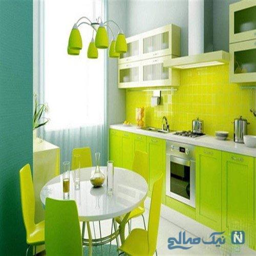 جادوی رنگ سبز را در دکوراسیون پذیرایی / شیک و مدرن بودن را تجربه کنید+تصاویر