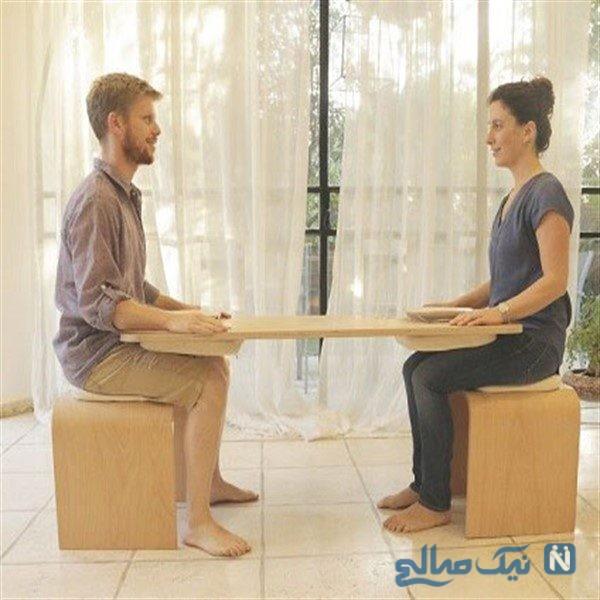 میز دو نفره که غذاخوردن با همسرتان را به یک تجربه منحصربفرد تبدیل می کند!+ تصاویر