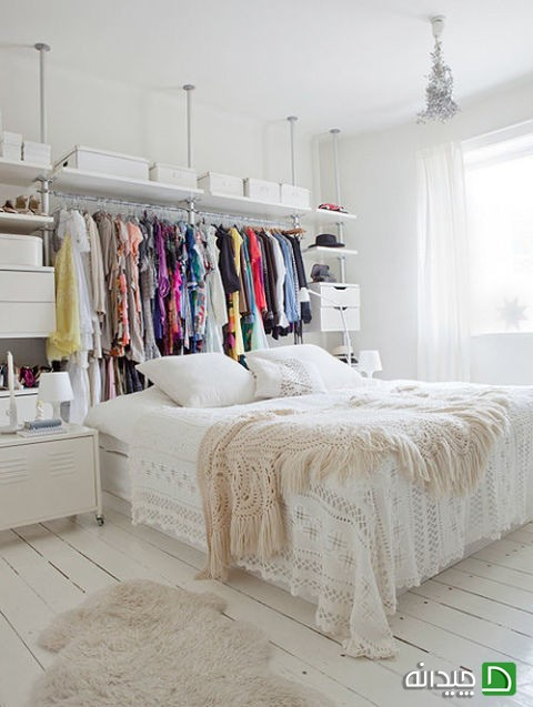 اتاق خواب های بدون کمد