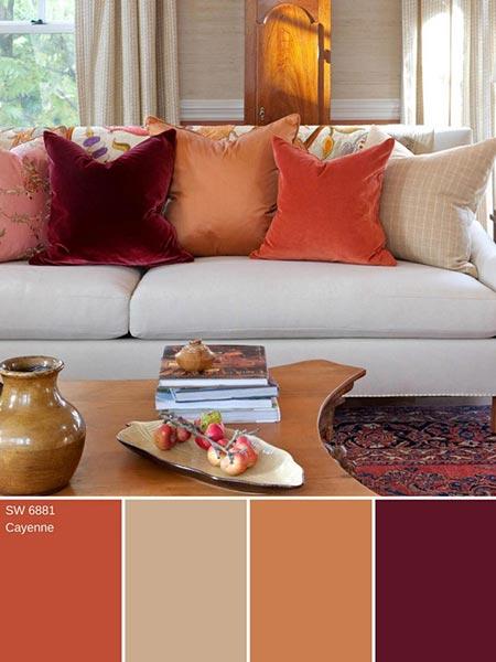 ترکیب رنگ های پاییزی