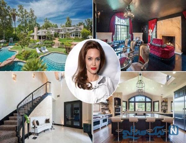 گشتی در دکوراسیون خانه جدید آنجلینا جولی بازیگر مشهور هالیوود +تصاویر