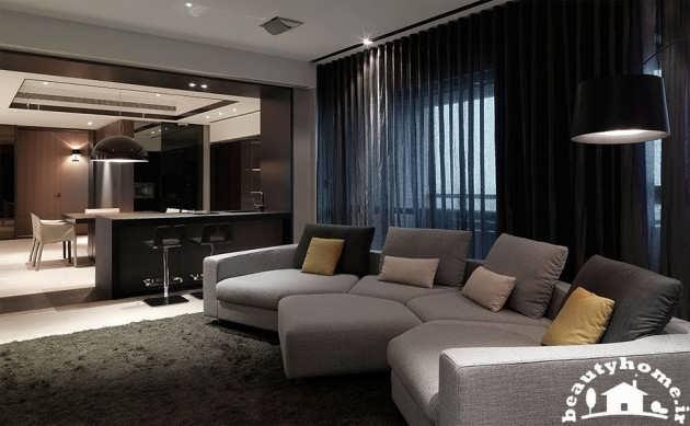 دکوراسیون داخلی منزل با رنگ های تیره + تصاویر