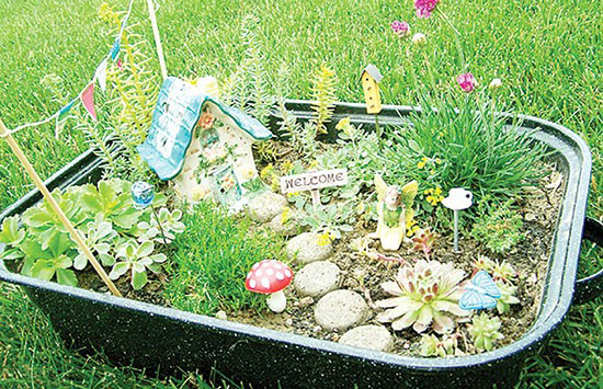در خانه کوچک خود باغ رویایی مینیاتوری بسازید+تصاویر