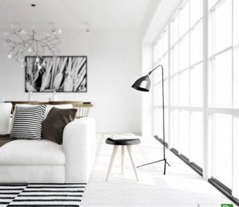 استفاده از رنگ سفید در دکوراسیون به سبک اسکاندیناوی +تصاویر