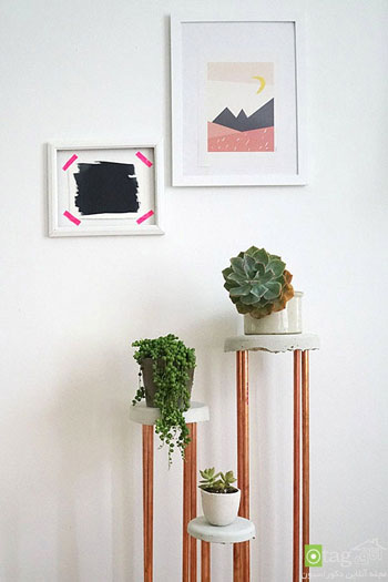 میزهای پایه بلند در دکوراسیون اتاق نشیمن +تصاویر