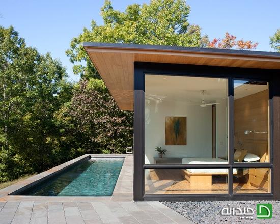 استخر جذاب برای حیاط کوچک منزل شما +تصاویر