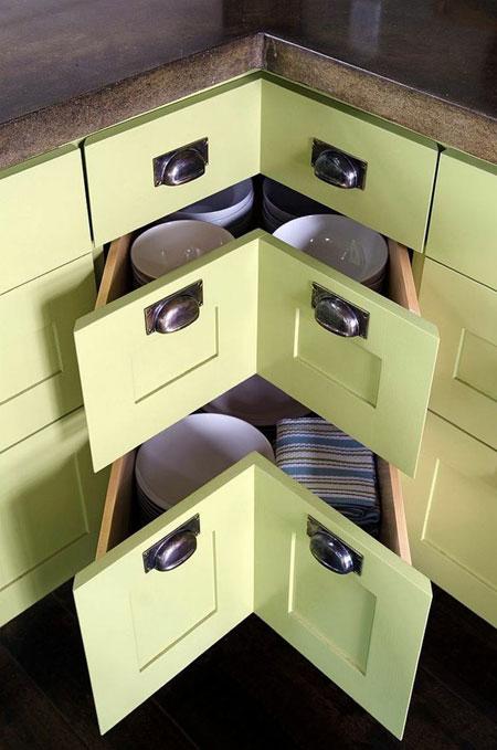 مدل کابینت گوشه آشپزخانه با طراحی کاربردی + تصاویر