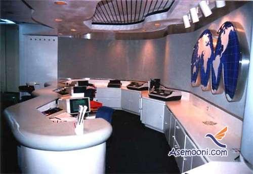 مدل طراحی دکوراسیون داخلی آژانس هواپیمایی +تصاویر