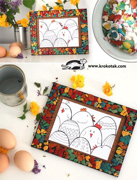 آموزش دکوراسیون با پوست تخم مرغ + تصاویر