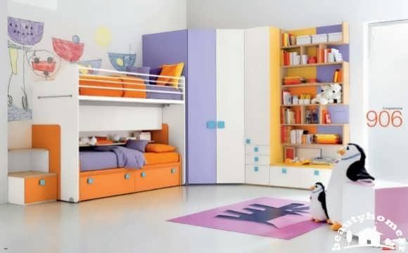 دکوراسیون داخلی اتاق کودک با رنگ های شاد و جذاب + تصاویر