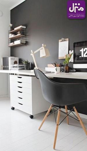 با این ایده ها در منزل برای خود اتاق کار بسازید +تصاویر