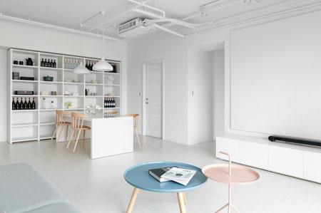 طراحی مینی مالیستی خانه ای مناسب مستاجران + تصاویر