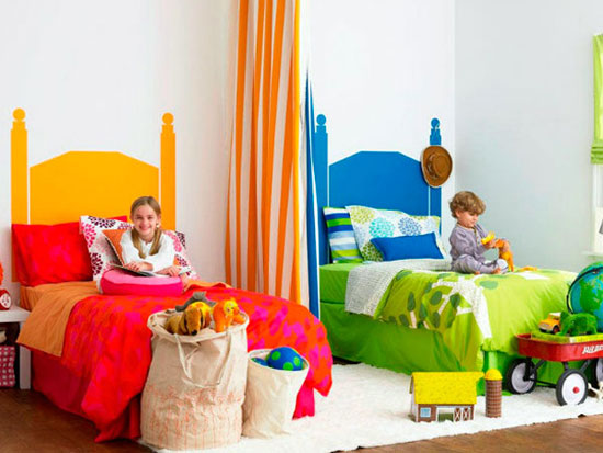 فضای اتاق مشترک بچه ها یتان را شاد و دوستداشتنی بچینید +تصاویر