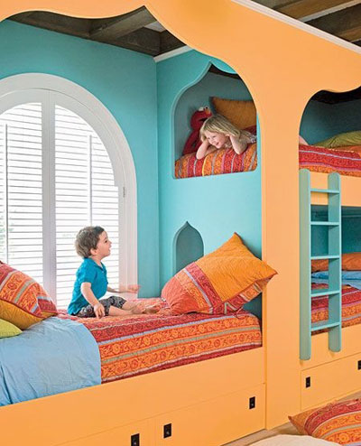 اتاق کودک رویایی با ایده های رنگارنگ + تصاویر