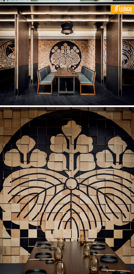 الهام گرفتن از سنت ها و آئین های مردم ژاپن، دردکوراسیون داخلی این رستوران +تصاویر