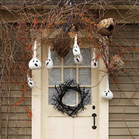 ورودی خانه تان را با این ایده های جالب، ترسناک کنید + تصاویر