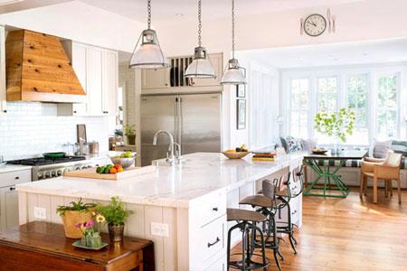 چیدمان و دکوراسیون آشپزخانه های سفید + تصاویر