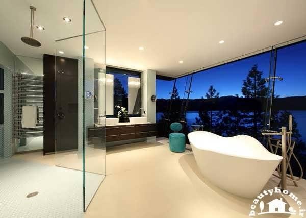 دکوراسیون حمام های مدرن اروپایی + تصاویر