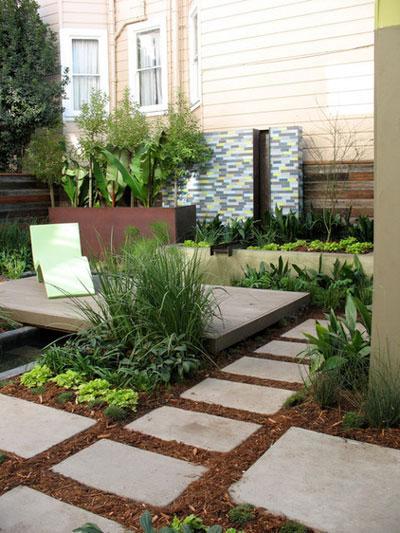 دکوراسیون و طراحی باغچه در حیاط کوچک خانه + تصاویر