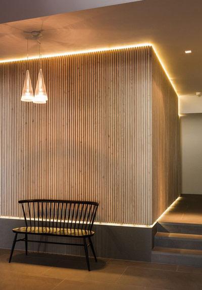 فضای داخلی ساختمان با نورهای مخفی خیره کننده + تصاویر