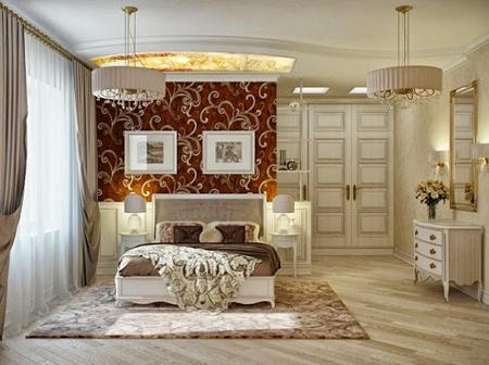 مدل اتاق خواب لوکس با دکوراسیون سلطنتی +تصاویر