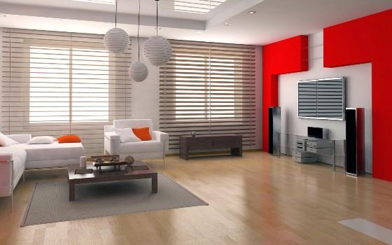 زیباترین دکوراسیون داخلی منزل با تم قرمز + تصاویر