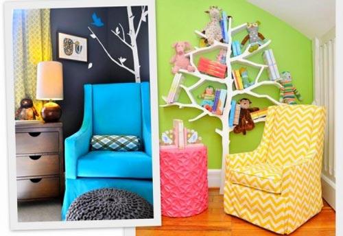 چند پیشنهاد برای دکوراسیون اتاق کودک، که شامل جزئیات بسیار ریز برای داشتن حال و هوای کودکانست +تصاویر