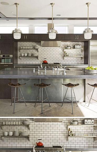 طراحی مدرن و شیک آشپزخانه با این کاشی های بسیار زیبا و جدید+تصاویر
