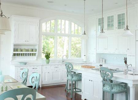 صندلی اُپن در طراحی دکوراسیون آشپزخانه + تصاویر