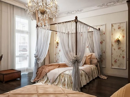 دکوراسیون زیبای اتاق خواب های لوکس سلطنتی + تصاویر