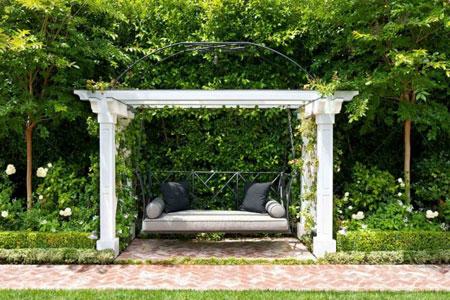 مبلمان و طراحی دکوراسیون فضای بیرونی و باغچه منزل + تصاویر