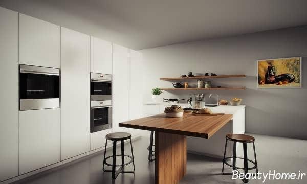 چیدمان آشپزخانه جدید و زیبا برای انواع خانه های مدرن +تصاویر
