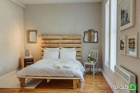 پالت های چوبی و تخت خواب هایی منحصر به فرد! +تصاویر