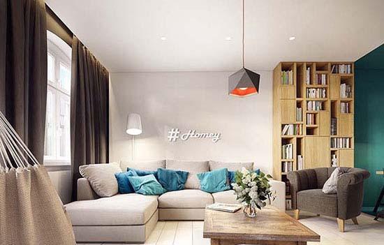 دکوراسیون آپارتمان فوق العاده شیک را با اشکال هندسی بسازید+تصاویر