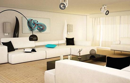 ترکیب سیاه و سفید در دکوراسیون داخلی منزل ، ترکیبی فوق العاده +تصاویر