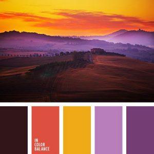 ترکیب رنگ های تند پاییزی