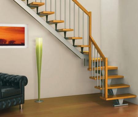 نرده راه پله چوبی در دکوراسیون خانه های دوبلکس و یا چند طبقه +تصاویر