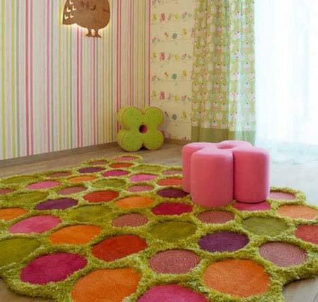 جدیدترین مدل های فرش اتاق کودک برای دکوراسیونی متفاوت+تصاویر