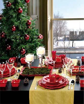 میزهای دکوری کریسمس را به زیباترین مدل آماده کنید+تصاویر