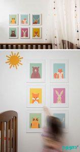 دکوراسیون اتاق کودک با تم جنگل