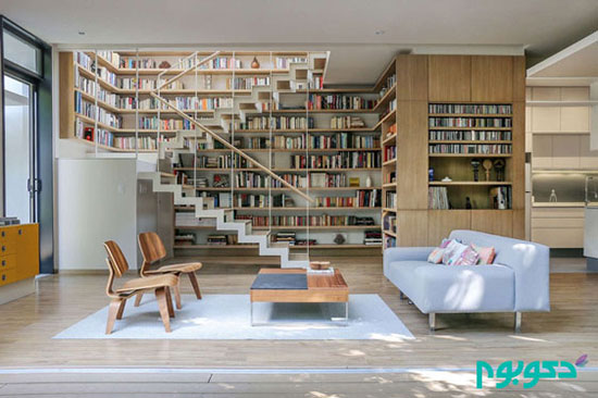 طراحی خانه برای عاشقان کتاب +تصاویر