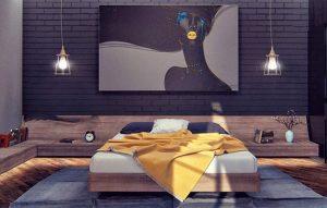اتاق خواب تیره