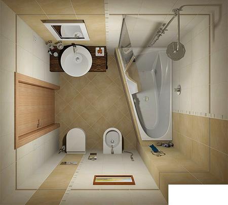 نمونه ای از طراحی های مدرن حمام و سرویس بهداشتی + تصاویر