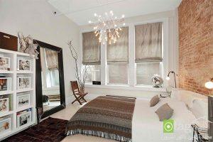 اتاق خواب با دکوراسیون رمانتیک