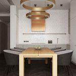 دکوراسیون مینیمال در آپارتمانی دو خوابه و نورگیر +تصاویر