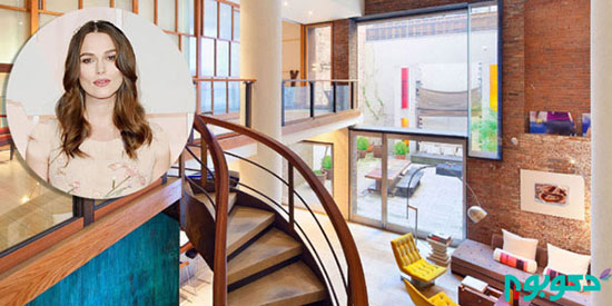 دکوراسیون منزل کایرا نایتلی +تصاویر