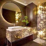 نورپردازی مدرن حمام و دستشویی بصورت خیلی زیبا + تصاویر