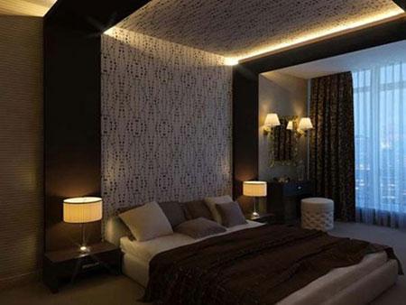 نورپردازی اتاق خواب با دکوراسیون مدرن